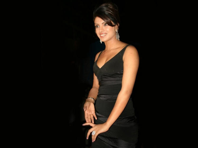 Priyanka Chopra Black Dress Hot Pic