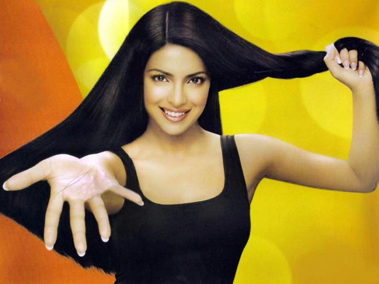 Priyanka Chopra Long Hair Shiny Look