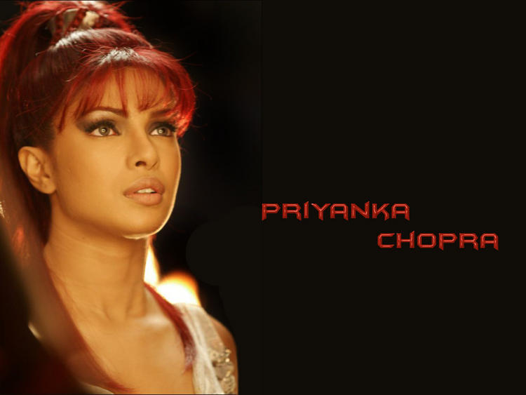 Priyanka Chopra Red Hair Style Stylist Wallpaper