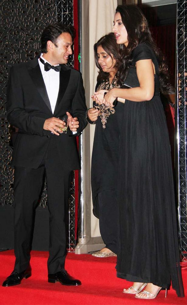 Nargis And Ness At Karan Johar Birthday Party
