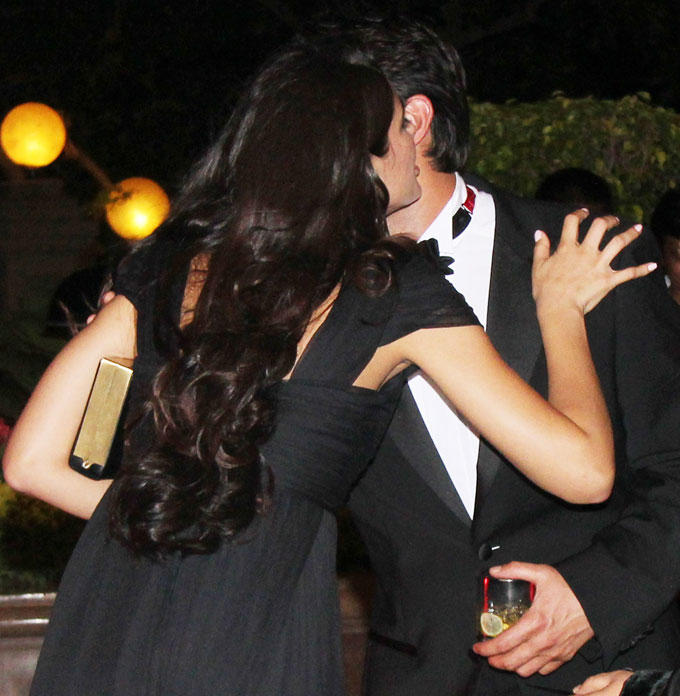 Nargis And Ness Kisses Each Other At Party