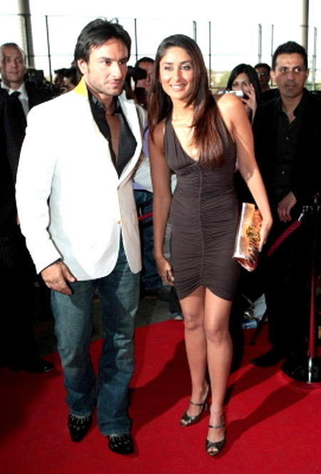 Saif And Kareena In Red Carpet