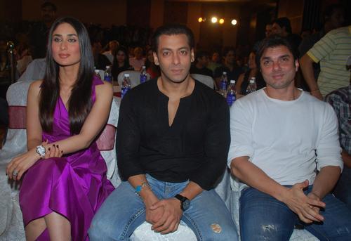Salman,Kareena And Sohail At Main Aur Mrs Khanna Music Launch