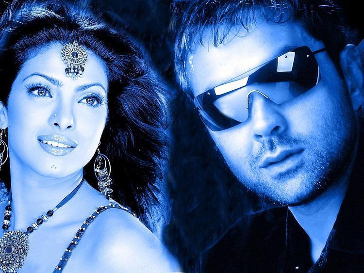 Priyanka And Bobby Deol Stylist Look in Kismat Wallpaper