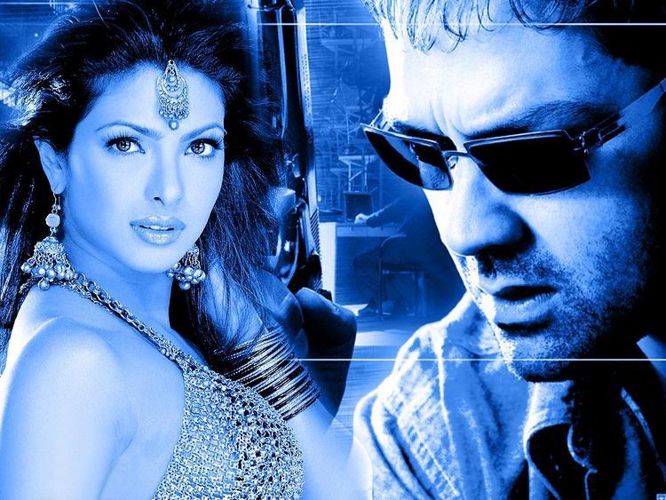 Priyanka With Bobby Deol In Kismat Movie Wallpaper