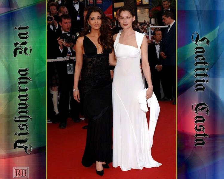 Aishwarya Rai and Laetitia Casta On Red Carpet