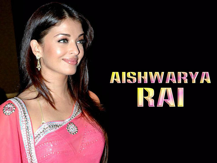 Aishwarya Rai In Pink Gorgeous Saree Wallpaper