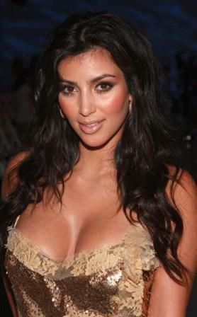 Kim Kardashian Glamour Boob Show Still