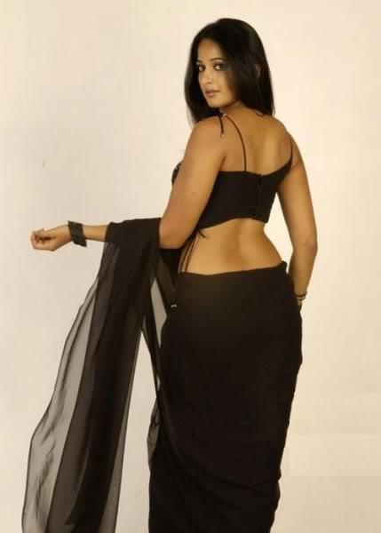 Anushka Shetty Sexy Back Exposing Still In Saree