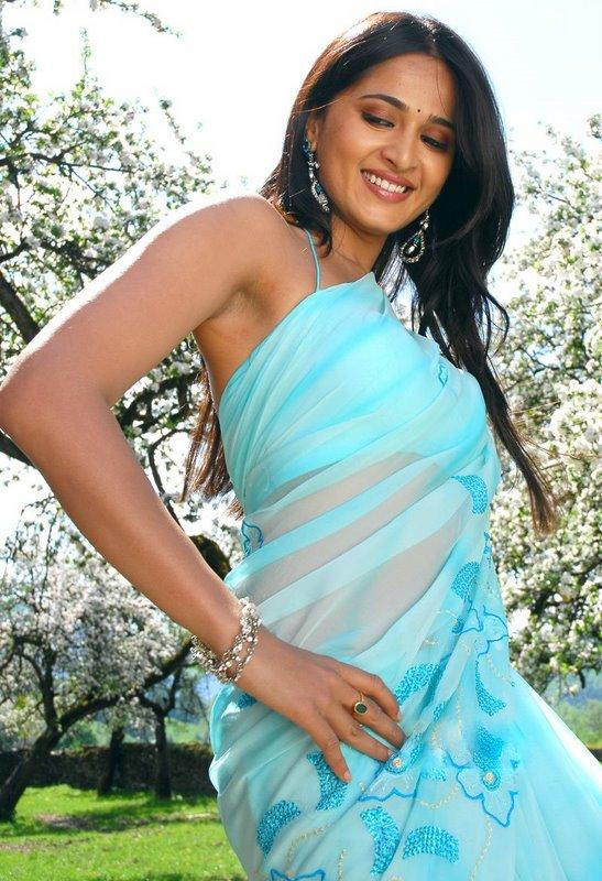 Anushka Shetty Sweet Sexy Still In Transparent Saree