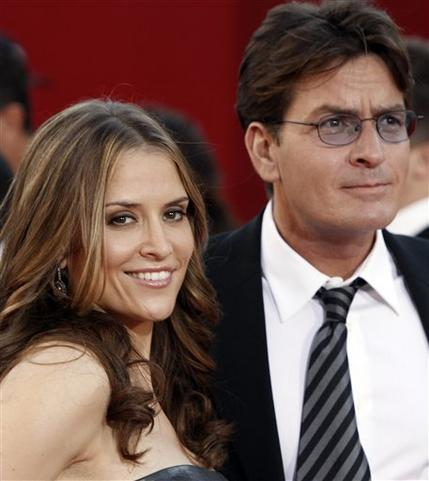 Charlie Sheen and His Wife Brooke Mueller