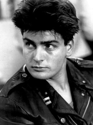 Charlie Sheen Black and White Photo