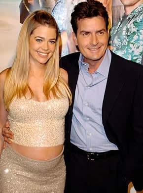 Charlie Sheen Smiling Pic Wife Denise Richards