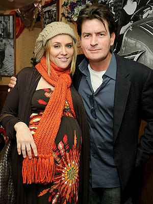 Charlie Sheens Poses With Ex Wife Brooke Mueller