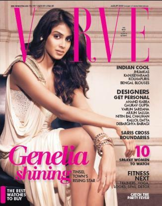 Genelia D'souza Verve Magazine Still