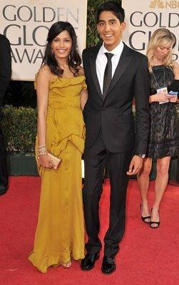 Dev Patel and Frieda Pinto at Golden Globe Award