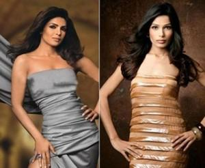 Freida and Priyanka Strapless Dress Hot Still