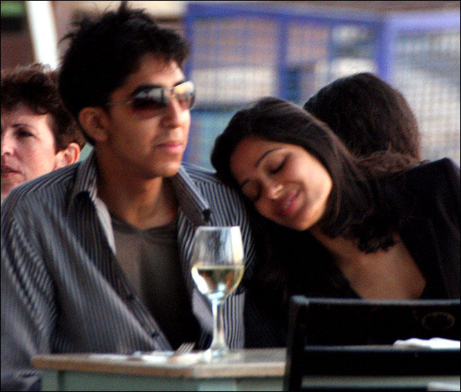 Freida Pinto and Dev Romance Photo