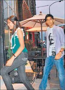 Freida Pinto and Dev Still