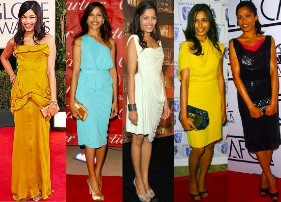 Freida Pinto Looks Hot In Different Types Of Dress