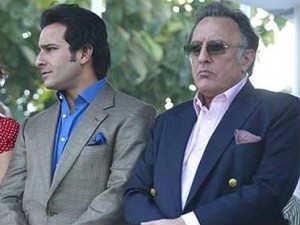 Saif With Father Mansoor Ali Khan Pataudi Photo