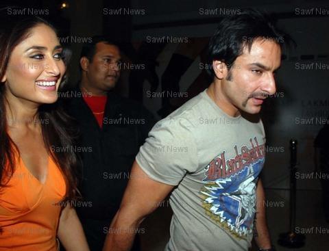Saif  With Kareena Kapoor At Manish Malhotra Show
