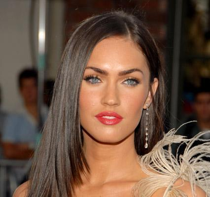 Megan Fox Green Eyes and Red Lips Pose Still