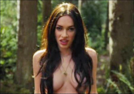 Megan Fox No Clothes Photos and Topless Picture