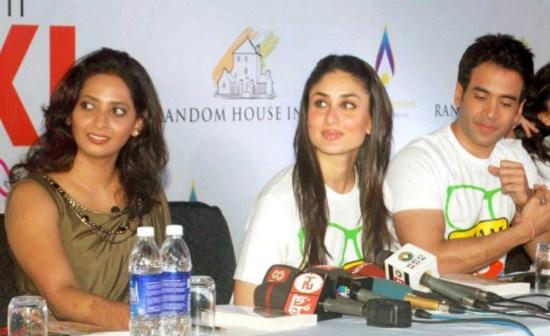 Kareena With Tushar Launches XL To XS Yoga Books