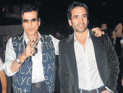 Tusshar With His Father Jeetender Photo