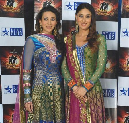 Karishma and Kareena Looks Sizzles In Sleevefull Churidar