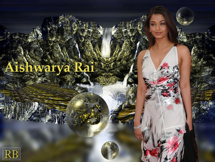 Cute Babe Aishwarya Rai Wallpaper