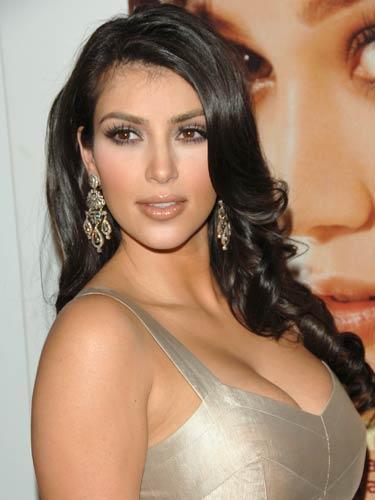 Kim Kardashian Sexy Boob Exposing Still