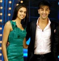 Deepika Padukone And Ranbir Sweet Smiling Stills