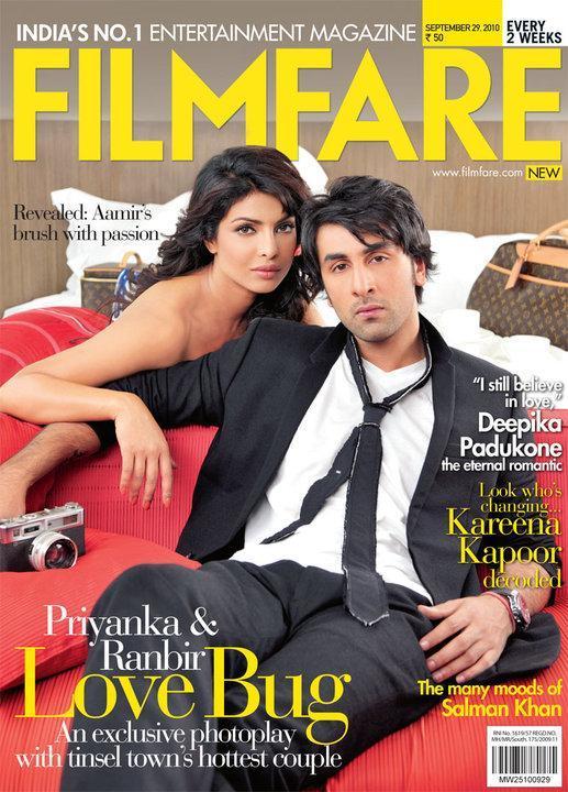 Ranbir And Priyanka Chopra On Filmfare Magazine