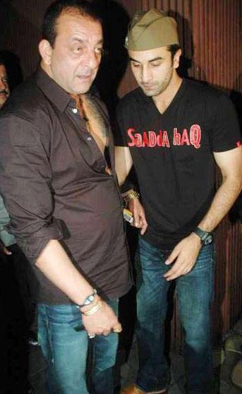 Ranbir With Sanjay Dutt Photo