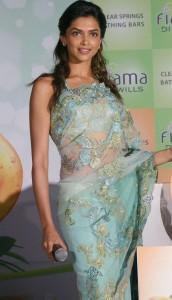 Deepika Padukone Sexy Still In Transparent Saree