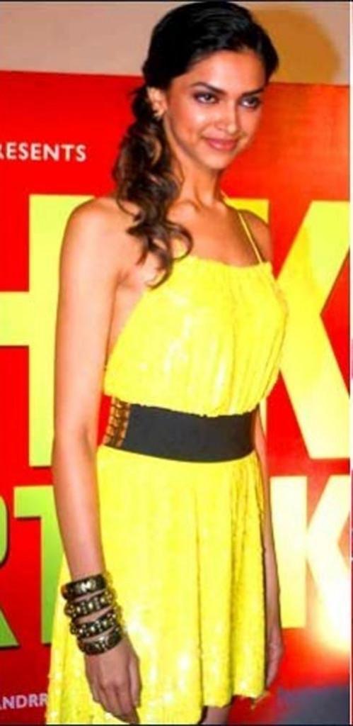 Deepika Padukone Sexy Yellow Dress Still