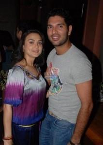 Preity With Yuvraj Singh Nice Pic