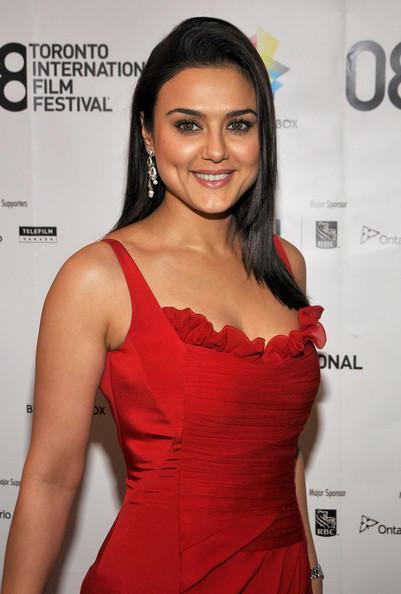 Preity Zinta Red Dress Nice Pic