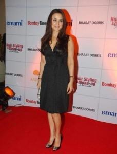 Preity Zinta Short Black Dress Nice Pic