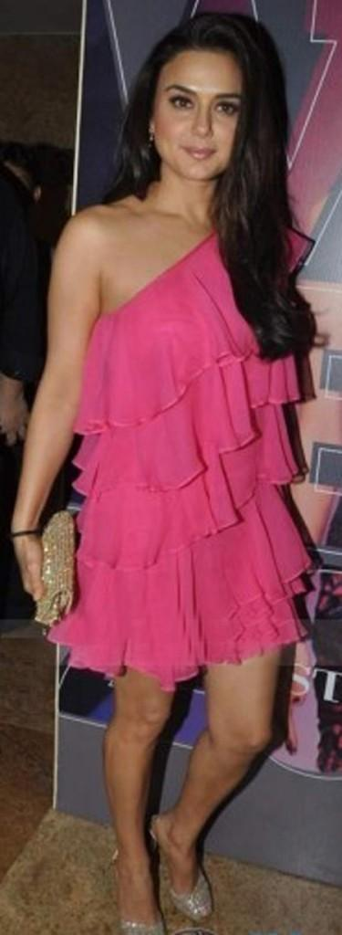 Preity Zinta Short Dress Hot Photo