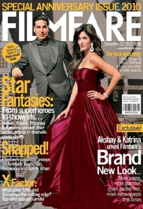 Akshay and Katrina Cover Filmfare Magazine