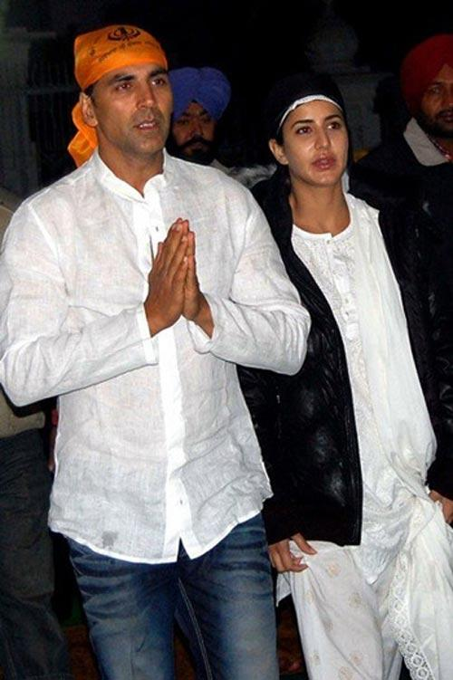 Akshay and Katrina at Golden Temple