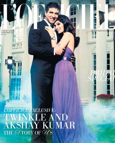 Akshay Kumar and Twinkle L'officiel Magazine Still