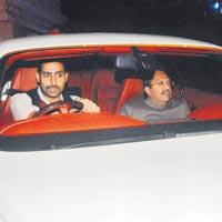 Abhishek Bachchan In Car