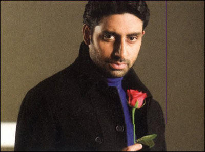 Abhishek Bachchan With Red Rose In KANK