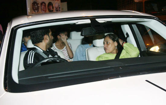 Abhi and Jaya at Amitabh Birthday