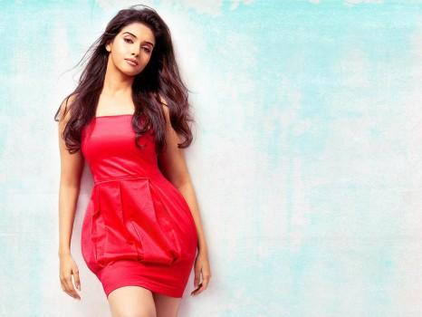 Sexy Star Asin Thottumkal Photo Shoot in Red Dress