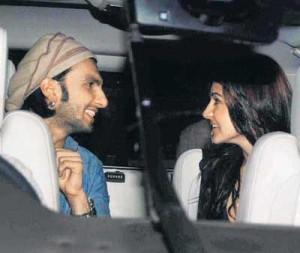 Ranveer And Anushka Sharma In Car